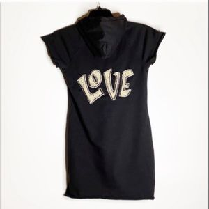 TWISTED HEART  Sweatshirt Hooded Dress.